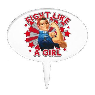 Melanoma Vintage Rosie Fight Like A Girl Cake Pick