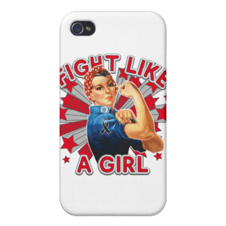 Melanoma Vintage Rosie Fight Like A Girl Cover For iPhone 4