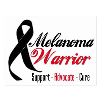 Melanoma Warrior Grunge Ribbon Postcard