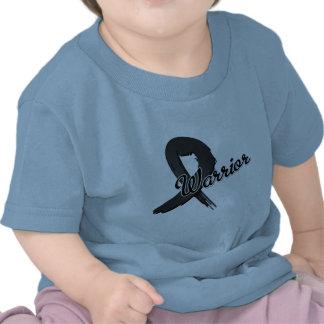 Melanoma Warrior Grunge Ribbon T-shirt
