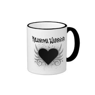 Melanoma Warrior Heart Ringer Coffee Mug