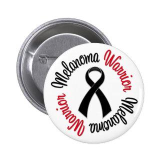 Melanoma Warrior Ribbon Pinback Button