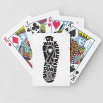 melanoma we walk for a cure bicycle playing cards