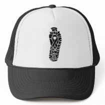 melanoma we walk for a cure trucker hat