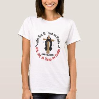 Melanoma WITH GOD CROSS T-Shirt