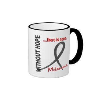 Melanoma Without Hope 1 Ringer Coffee Mug