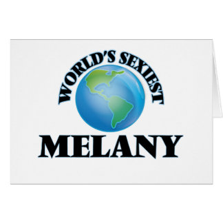 Melany más atractivo del mundo tarjeta pequeña