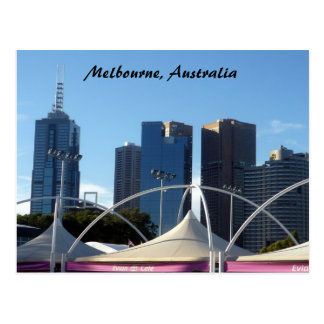 melb city postcard