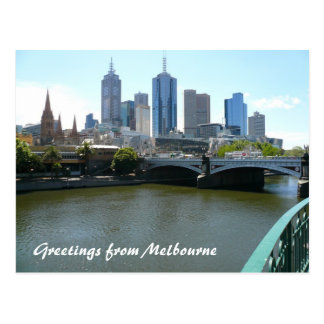 melb city postcard