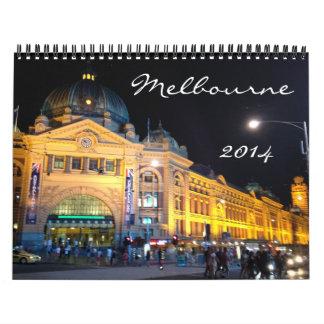 Melbourne 2014 calendario de pared