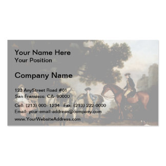 Melbourne and Milbanke Families by George Stubbs Double-Sided Standard Business Cards (Pack Of 100)