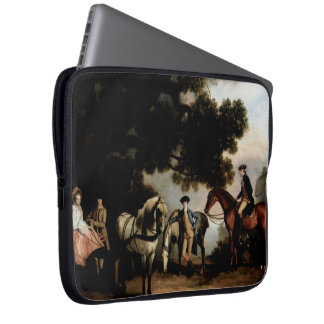 Melbourne and Milbanke Families by George Stubbs Laptop Sleeves