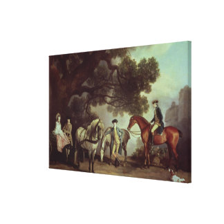 Melbourne and Milbanke Families, Canvas Print