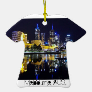 Melbourne, AUS.txt Double-Sided T-Shirt Ceramic Christmas Ornament