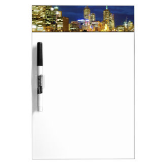 Melbourne, Australia. A nighttime view of the 2 Dry-Erase Board