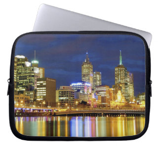 Melbourne Australia A nighttime view of the 2 Computer Sleeve