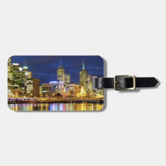 Melbourne, Australia. A nighttime view of the 2 Travel Bag Tag