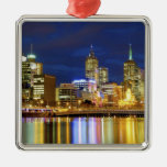 Melbourne, Australia. A nighttime view of the 2 Christmas Tree Ornament
