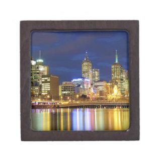 Melbourne, Australia. A nighttime view of the 2 Premium Keepsake Boxes