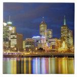 Melbourne, Australia. A nighttime view of the 2 Ceramic Tiles