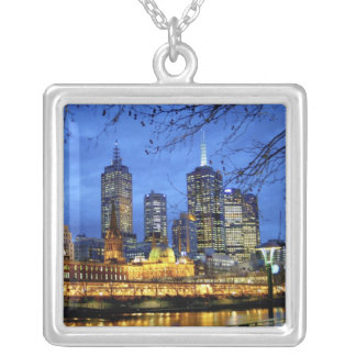 Melbourne, Australia. A nighttime view of the Square Pendant Necklace