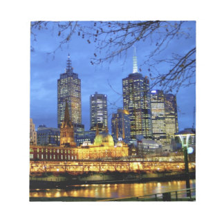 Melbourne, Australia. A nighttime view of the Notepad