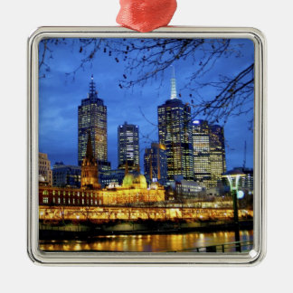 Melbourne, Australia. A nighttime view of the Christmas Ornament