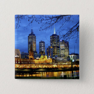 Melbourne, Australia. A nighttime view of the Pinback Button