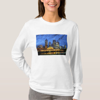 Melbourne, Australia. A nighttime view of the T-Shirt