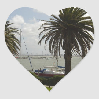Melbourne Australia Heart Sticker