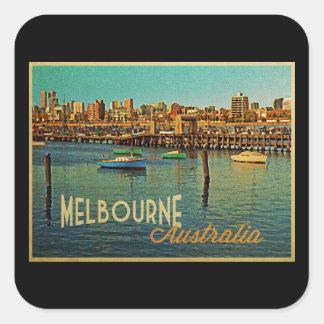 Melbourne Australia Pegatina Cuadrada