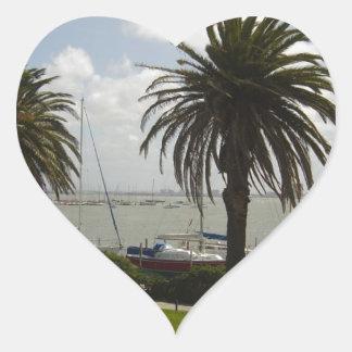 Melbourne Australia Pegatina En Forma De Corazón