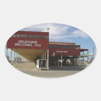 Melbourne Australia Pegatina Ovalada