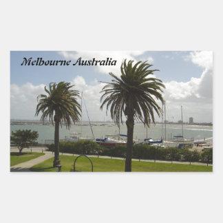 Melbourne Australia Pegatina Rectangular
