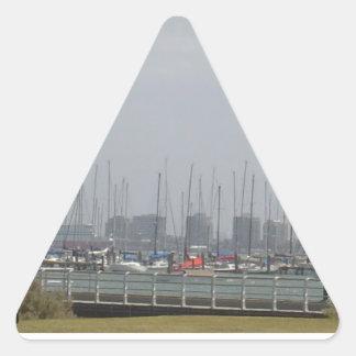 Melbourne Australia Pegatina Triangular