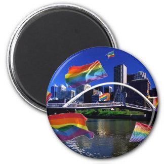 Melbourne, Australia Pride 2 Inch Round Magnet