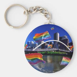 Melbourne, Australia Pride Basic Round Button Keychain