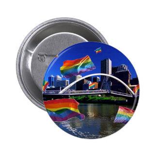 Melbourne, Australia Pride Pinback Button