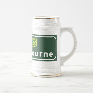 Melbourne, Australia Road Sign Beer Stein