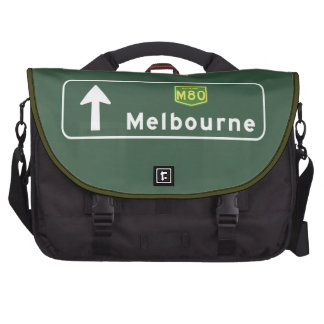 Melbourne, Australia Road Sign Laptop Computer Bag