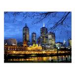 Melbourne, Australia. Una opinión de la noche del Tarjeta Postal