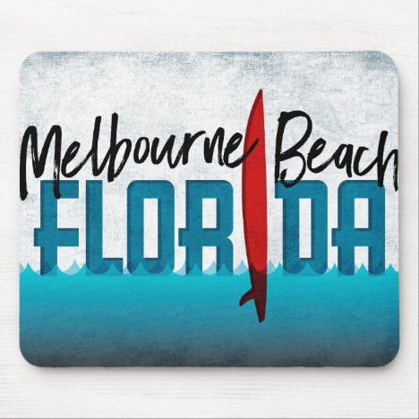 Melbourne Beach Florida Surfboard Surfing Mouse Pad