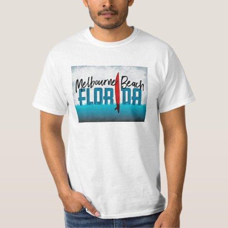 Melbourne Beach Florida Surfboard Surfing T-Shirt