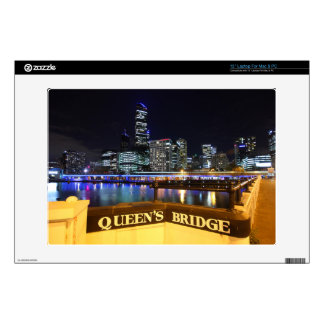 "Melbourne CBD Queens Bridge City Lights Decal For 13"" Laptop"