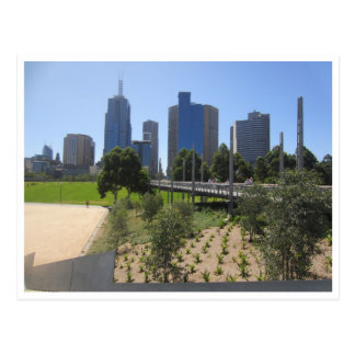 melbourne city parkland postcard