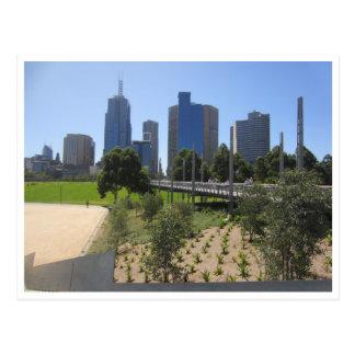 melbourne city parkland postcard