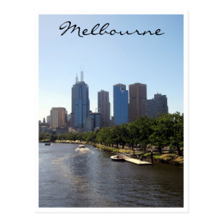 melbourne city skyline postcard