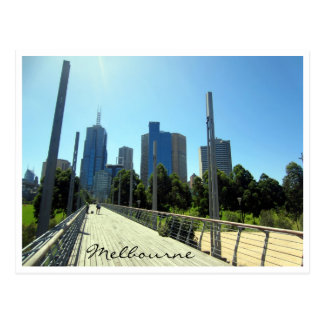melbourne city walkway postcard