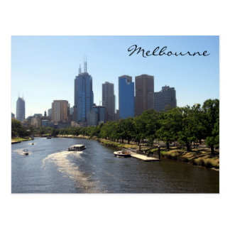 melbourne distant skyline postcard