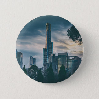 Melbourne Dusk Skyline Pinback Button